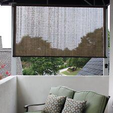 "Solar Shades Window Outdoor Porch Roll Up Patio Blinds Deck Sun Screen 48""x72"""