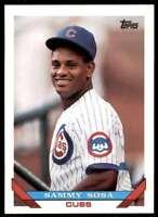 1993 Topps Sammy Sosa Chicago Cubs #156