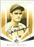 2004 SP Legendary Cuts Bobby Doerr Signed Auto Baseball Card #13 Boston Red Sox