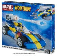 MEGA Bloks MARVEL COMICS X MEN WOLVERINE Racer Auto & Mini figura giocattolo COFANETTO
