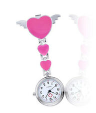 New Women's Girl's Nurse Clip-on Fob Brooch Hanging Cartoon Quartz Pocket Watch