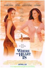 WHERE THE HEART IS MOVIE POSTER Original DS 27x40 NATALIE PORTMAN ASHLEY JUDD