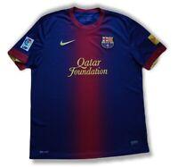 Barcelona 2012 2013 Home Football Soccer Shirt Jersey Nike Camiseta Messi Xavi