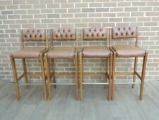 Chesterfield Set of 4 Bar Stools (UK Delivery possible)