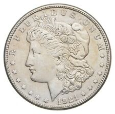 Choice AU/UNC 1921-S Morgan Silver Dollar Last Year of Issue Great Luster *447