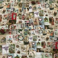Huge Lot of 400 +++ Holidays Greetings Postcards DAMAGED- SCRAPBOOK CRAFTS!!!!!