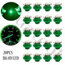 20Pcs Green B8.4D 1-SMD LED Car Interior Dashboard Gauge Indicator Lights Bulbs