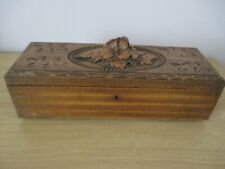 BLACK FOREST GLOVE JEWELRY BOX  WOOD CARVING SWISS