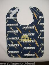 SAN DIEGO CHARGERS PERSONALIZED BABY BIB BIBS Large CottonTerry Embroidered Name