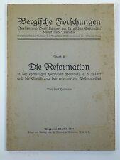 Bergische Forschungen, Band II, 1934: Heckmann: Die Reformation.....Homberg...