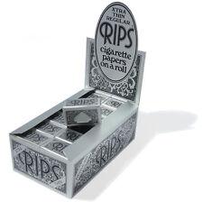 Rips Argent Extra Mince Standard Papier à Rouler les Cigarettes. sur un 5 Rolls