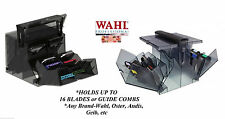 WAHL Clipper BLADE&ATTACHMENT COMB STORAGE CASE Tote*For Any Brand-Oster,Andis