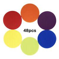 48PCS sortierte Farben-Boden-Teppich-Punkt-Markierungen für Yoga-Trainings-Übung