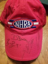 NHRA HAT SIGNED AUTOGRAPHED by 7 people NICE National Hot Rod Association