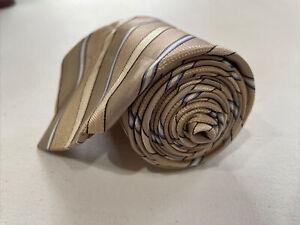Michael Kors Men's Beige Striped Silk Tie $98
