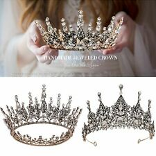 Bride Wedding Vintage Crowns Tiaras Bridal Crystals Headbands Baroque Headpiece