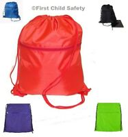 Swimfin Delphin Gym Swim School Sport P E Drawstring Bag Zip Backpack - NEW