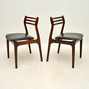 PAIR OF DANISH ROSEWOOD & LEATHER CHAIRS BY P.E JORGENSEN VINTAGE 1960's