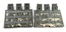 Lot of 2 Triple Mag Pouches ACU - Molle II 3 Magazine Shingle Pouch - US Army