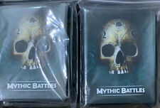Mythic Battles Pantheon 1.5 500 Blue Card Sleeves New FREE US Ship Rare Extra
