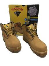 Herman Survivors Breaker Steel Toe Leather work boots Tan NIB New in Box Wide