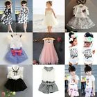 Summer Kids Baby Girl Outfits Clothes T-shirt Top+Pants/Shorts/Dress Outfits Set