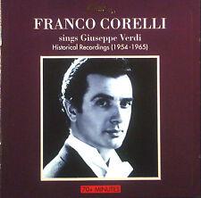 CD FRANCO CORELLI - sings Giuseppe Verdi, historical recordings 1954-1965