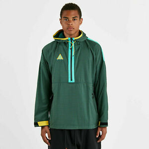 Nike ACG Woven Hooded Jacket Atomic Teal Yellow 931907-375 BAGGY FIT