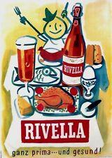 Original vintage poster RIVELLA HEALTY SODA GASTRONOMY 1953
