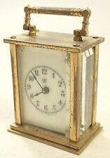 Antique Brass Waterbury Carriage Shelf Clock