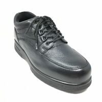 Men's Drew Casual Walking Shoes Sneakers Size 8.5 4E Black Leather Lace Up A2