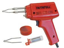 Faithfull 100w Electric Soldering Iron Gun Kit + Tips & Solder Wire 240v FPPSGK