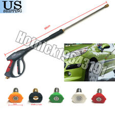 4000PSI High Pressure Car Power Washer Spray Gun Wand Lance Nozzle Tips Kit