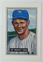 1989 89 Bowman Replicas Ed Whitey Ford, New York Yankees, HOF