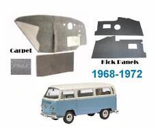 VW Kombi Low Light Front Kick Panels and Black Carpet Kit Bus 1968-1972