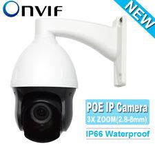 "CCTV Security 3"" MINI HD IP POE PTZ Camera 960P 1.3MP ONVIF IR 2.8-8MM 3X ZOOM"