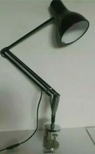 Anglepoise Type 75 Desk Lamp , (black,) and chrome clamp