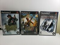 Medal of Honor Frontline & Rising Sun & European Assault PS2 Complete Lot