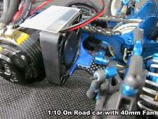 Low Profile Fan Mount Black for 25mm 30mm 40mm 1/10 On road 4WD Buggy 2WD Buggy