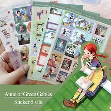 Lovely Fairy Tale Multipurpose Decorative Stickers Diary - Anne of Green Gables