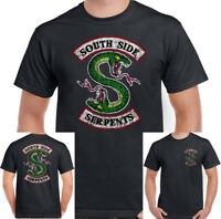 Southside Serpents Mens Funny Riverdale TV Show Distressed T-Shirt US Programme