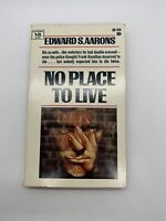 No Place to Live Edward Aarons 1968 Vintage Mystery PB Spy Sexy Sleaze Thrill 2P