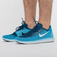 NIKE FREE RN FLYKNIT 2017 Running Trainers Shoes Gym Casual - UK 9 (EUR 44) Blue
