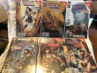 Xena Warrior Princess Topps Comic Book Lot Of 9 good condition