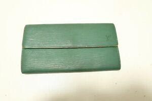 Authentic LOUIS VUITTON Portefeuille Sarah Epi Green Long Wallet  #7670