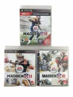 Lot Of 3 Assorted Madden NFL 10, 11, 15 Football Video Games For PS3 Untested