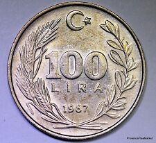 Turquie, 100 Lira, 1987, TTB, Copper-Nickel-Zinc, KM:967 AC316