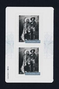 Canada 2763a Left Booklet Pane MNH Photography, Sitting Bull, Buffalo Bill