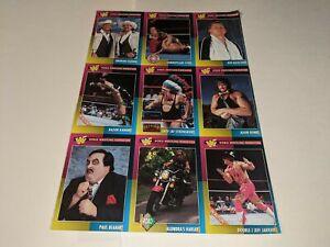 1995 WWF MAGAZINE TRADING CARDS UNCUT 9-Card #10-18 Sheet Set Paul Bearer/Razor+