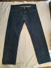 "Vintage Helmut Lang Sample Raw Selvedge Button Fades 90's Mens Jeans 38""/33"""